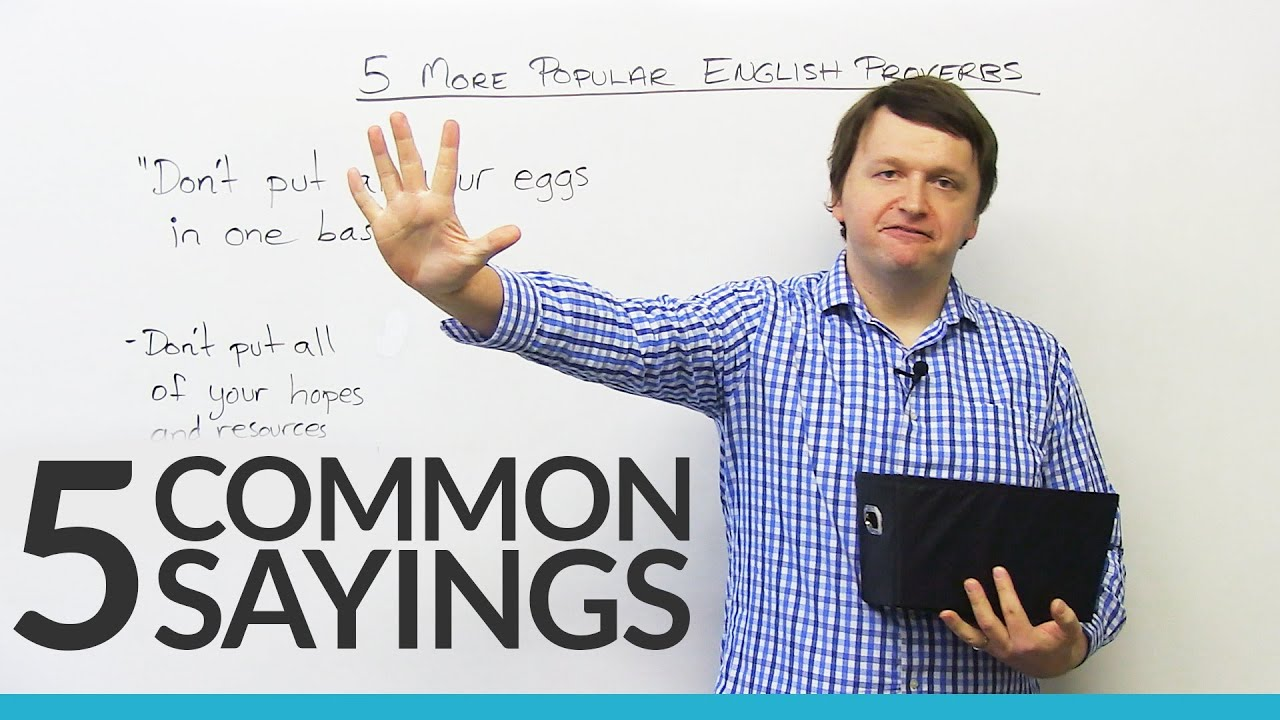 5 common sayings in english youtube