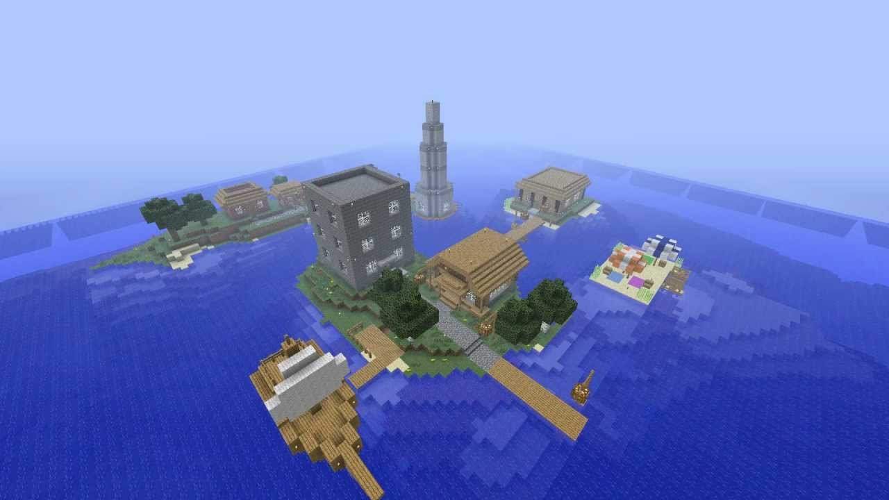 Minecraft Tropical Island: Minecraft Timelapse: Tropical Resort