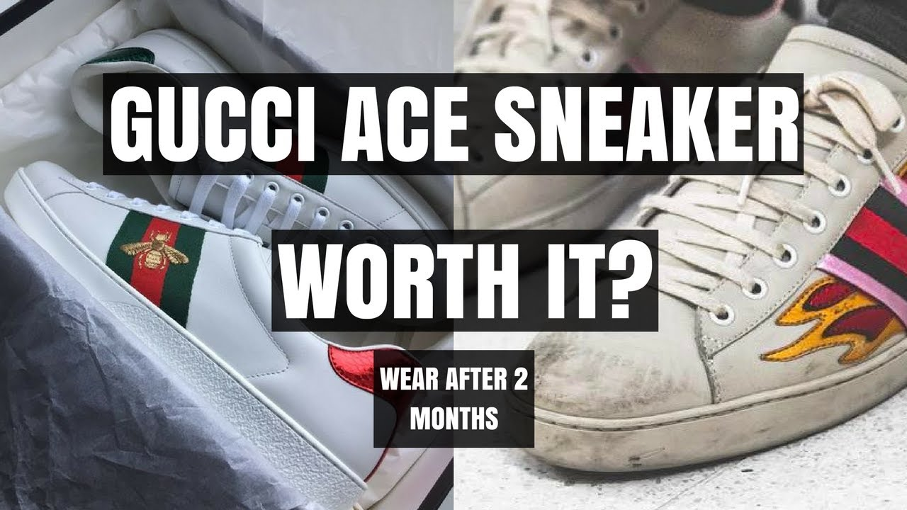 21e31d8a8 Mens Gucci Ace Sneaker Wear & Tear Are They Worth $$$? - YouTube
