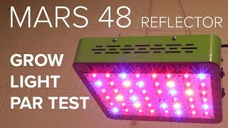 Mars 48 Reflector Grow Light - PAR test and review
