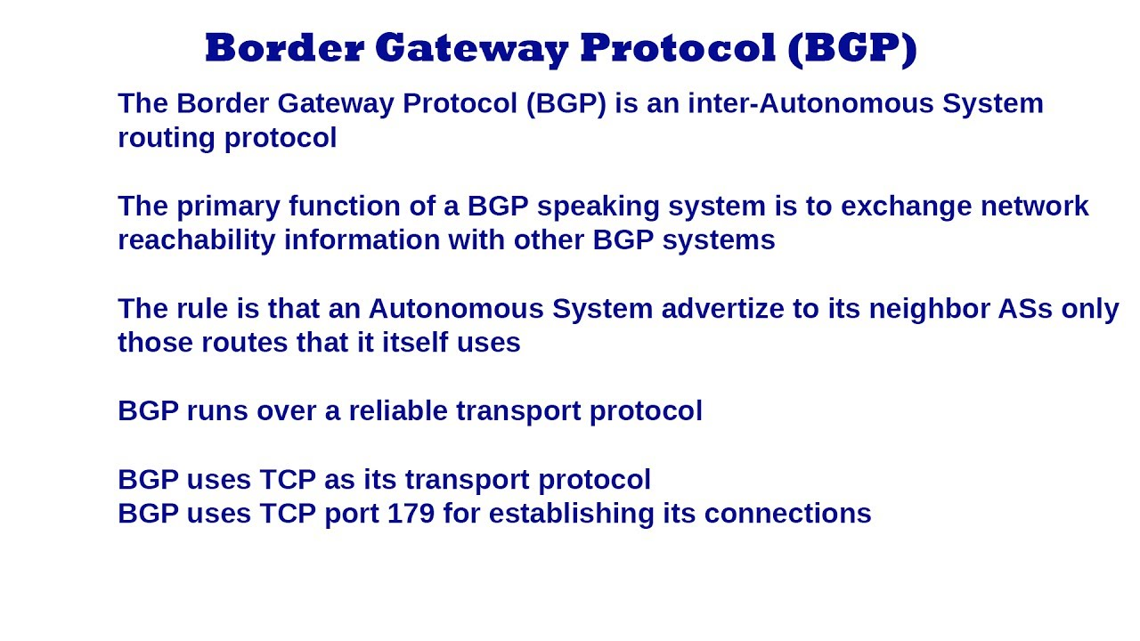 Border Gateway Protocol BGP - ...