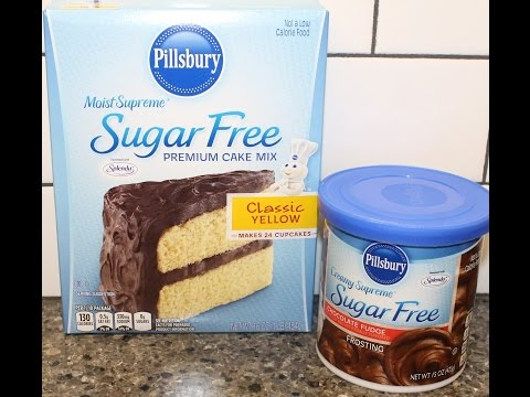 Making A Pillsbury Sugar Free Cake Mix with Sugar Free Frosting & Review