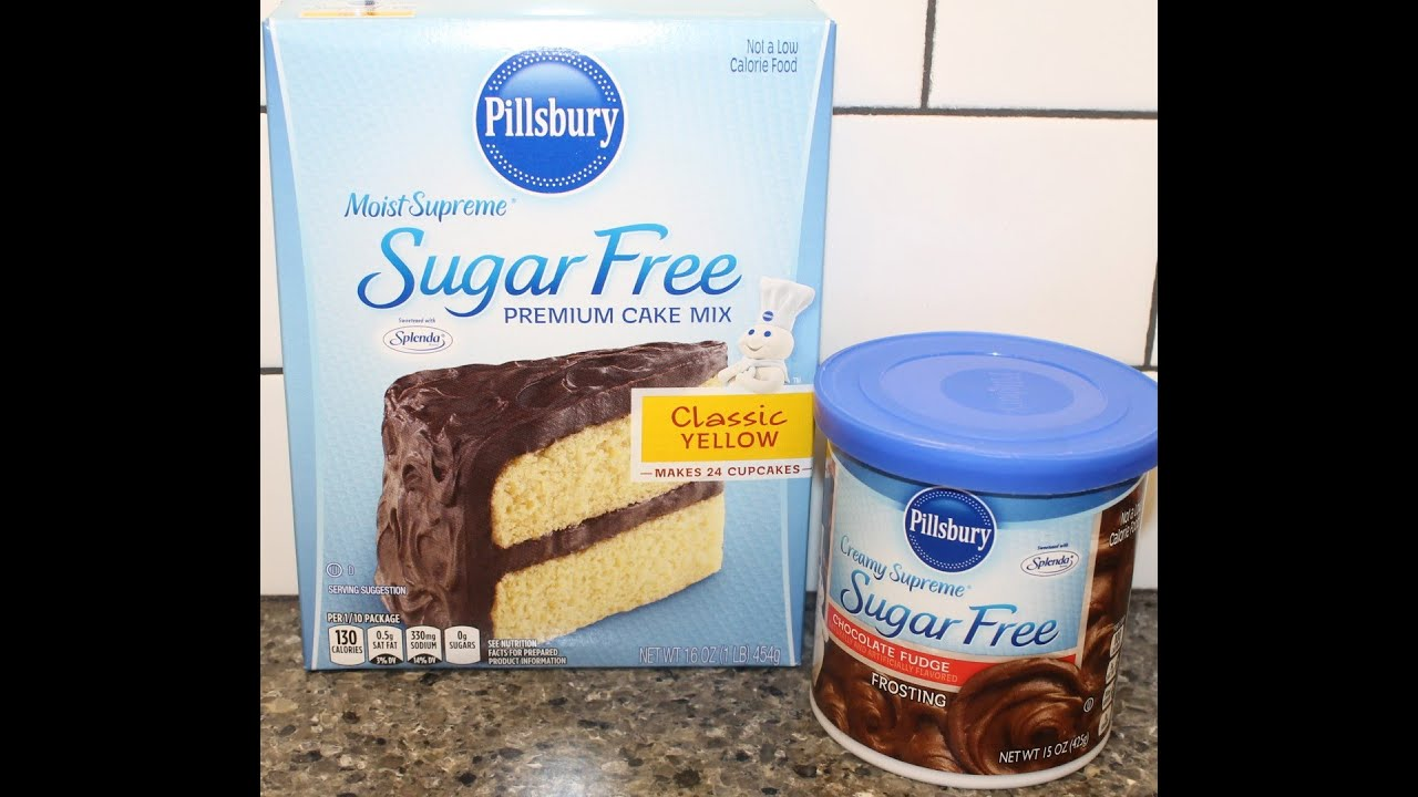 Making A Pillsbury Sugar Free Cake Mix With Frosting Review