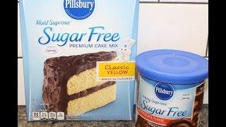 Making Pillsbury Sugar Free Cake Mix Sugar Free Frosting Review