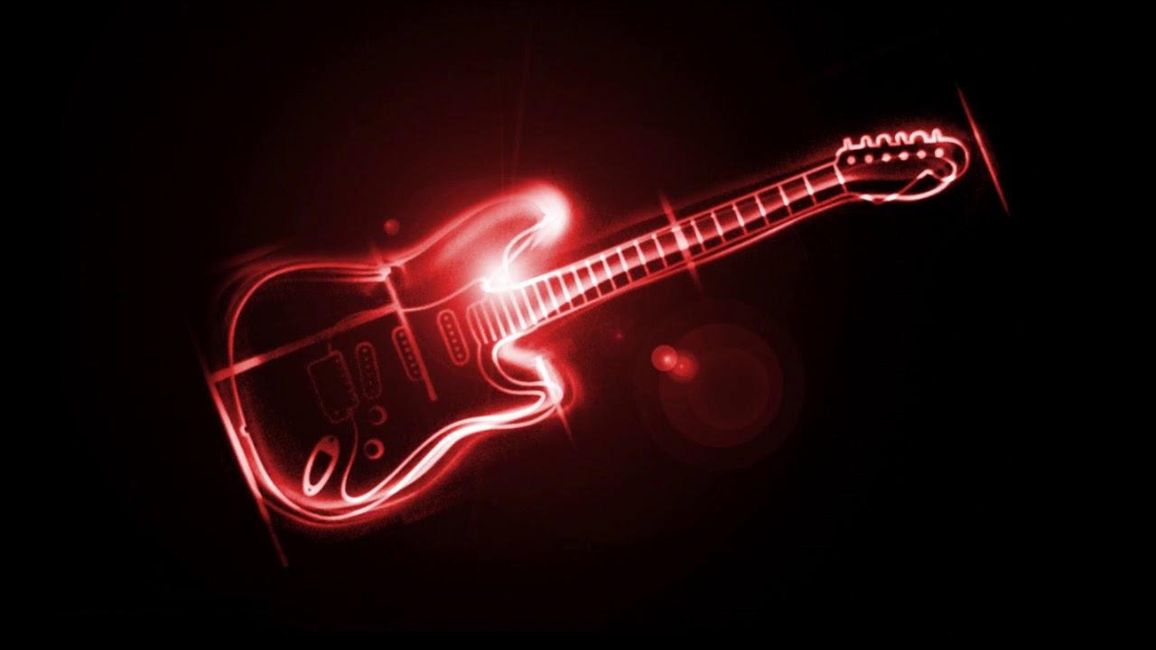 Черно красные картинки с гитарой