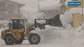 Weiterer Schnee in den Alpen (09.01.2019)