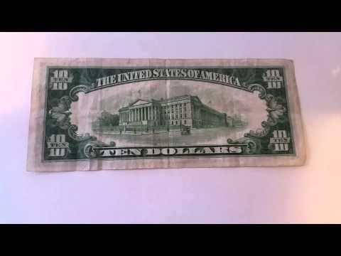 1934 Series A $10 Bill