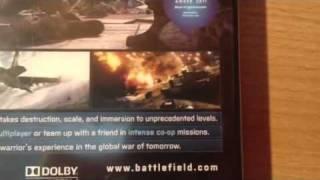Распаковка Battlefield 3 Limited Edition