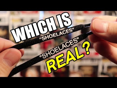 Off White VS Rope Lace Supply shoes laces | Real vs Fake Comparison