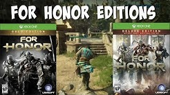 Which For Honor Edition Should You Buy?   Gold, Deluxe, Standard