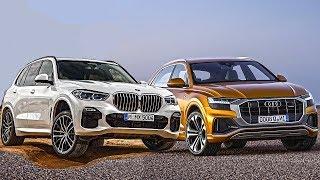 AUDI Q8 против BMW X5 2019! И цены на VW Touareg!