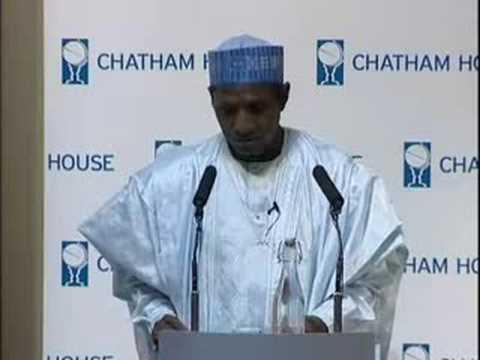 Download President Umaru Yar'Adua speaks at Chatham House in London