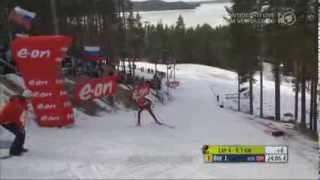 16.03.2014 Biathlon Kontiolahti Verfolgung Herren Winner Johannes Thingnes Bø (full)