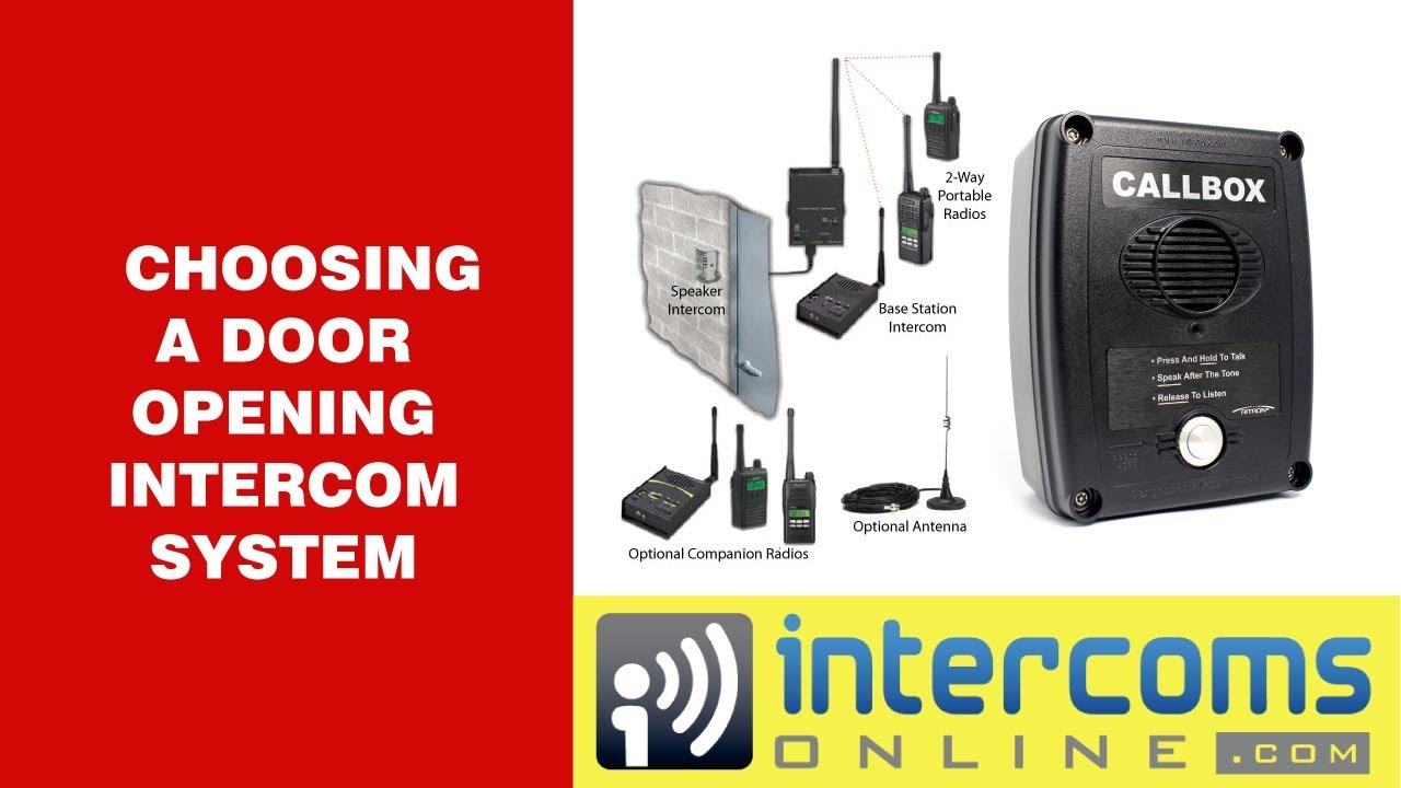 Door Opening Intercom 888 298 9489 Youtube Doorbell Fon Wiring Diagram