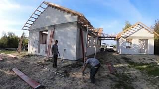 Dzień z budowy domu. Jak wybudować dom. Zrób to sam.