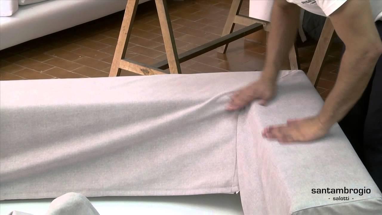 how to make a slipcover for sofa seattle argos come si sfodera e rimette la fodera di un divano - ...