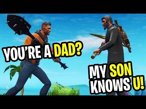 I Met A DAD In Fortnite Random Duos... (HE'S A FAN!)
