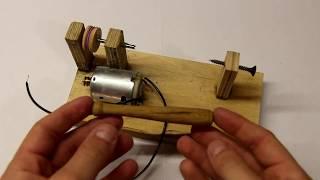 видео Мини токарный станок по дереву