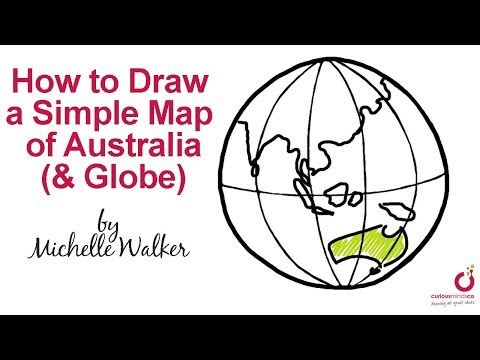 How to Draw a Simple Map of Australia (& Globe)!