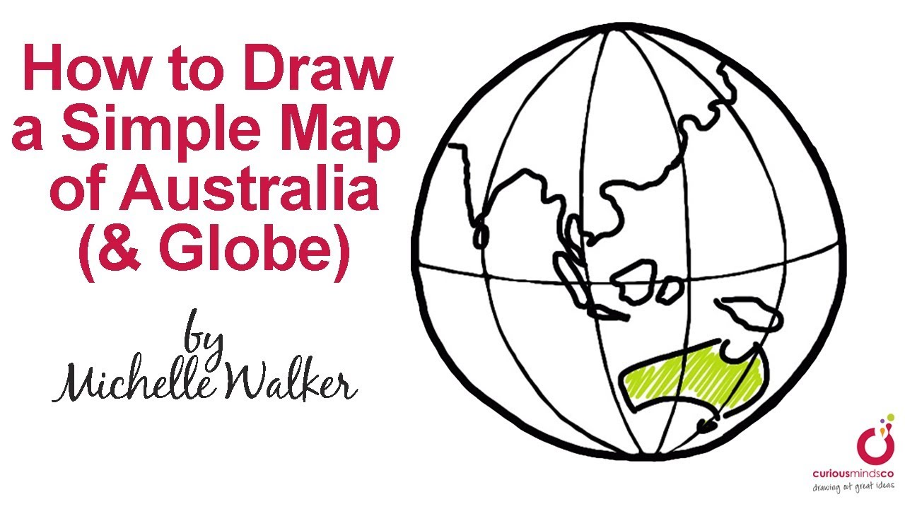 Simple Map Of Australia.How To Draw A Simple Map Of Australia Globe Youtube
