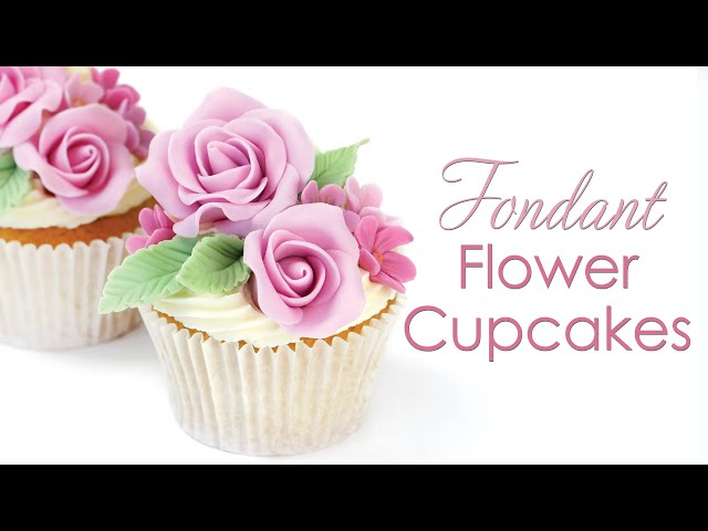 Fondant Rose Flower Cupcake Tutorial - Perfect for Beginners - Mother's Day cupcakes