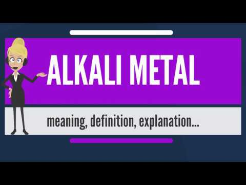 What is ALKALI METAL? What does ALKALI METAL mean? ALKALI METAL meaning, definition & explanation