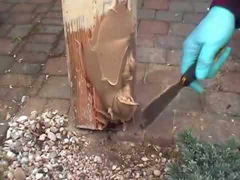 morsches Holz reparieren mit RENOFLEX
