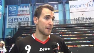 21-02-2016: #SuperLega - Exprivia Molfetta, Rocco Barone commenta la vittoria con Perugia