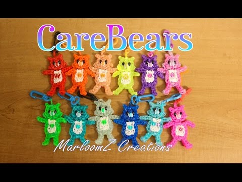 Rainbow Loom Care Bears Tutorial / How To using loom bands