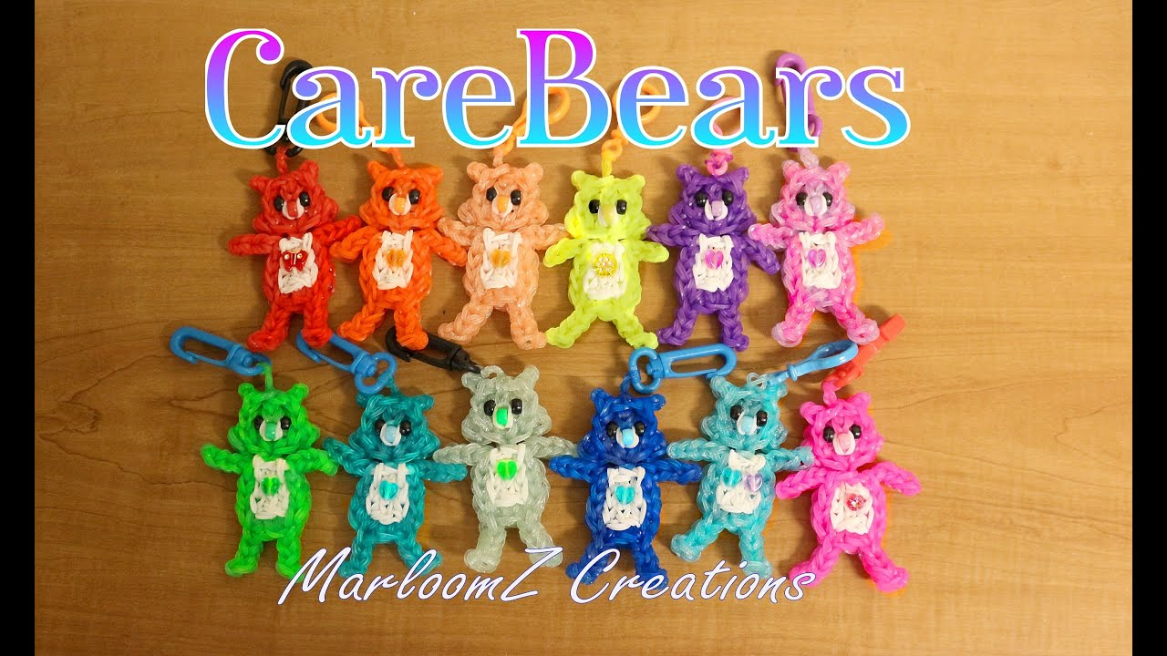 Rainbow Loom Care Bears Tutorial How To Using Bands