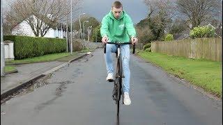 Learning how to wheelie my road bike **Sketchy**
