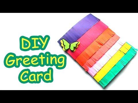 কালারফুল গিফট কার্ড আইডিয়া - DIY Colorful Greetings Card making idea - DIY Birthday Card