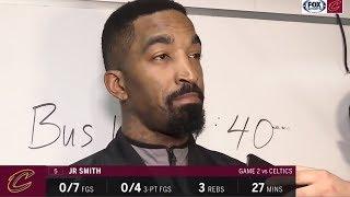 J.R. Smith On Scoring 0 Points In 27 Minutes, Flagrant Foul On Al Horford, & Down 0-2 vs Celtics