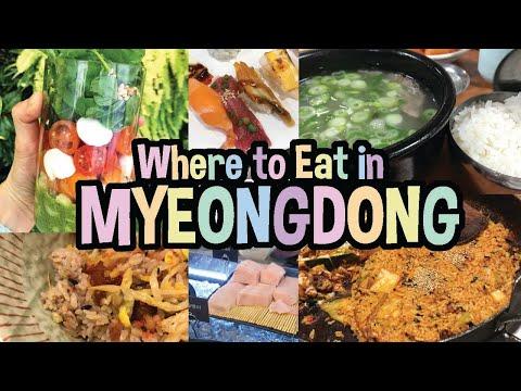 🍣🍔 Best Restaurants to Visit in Myeongdong | Korean Street Food and Restaurants Tour in Myeongdong