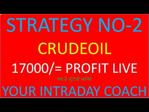 STRATEGY NO-2, No loss Intraday crude oil trading strategies||crude oil trading strategies.