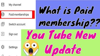 What is paid membership??  | You Tube new Update | Full Hindi Explanation | B-tech Review