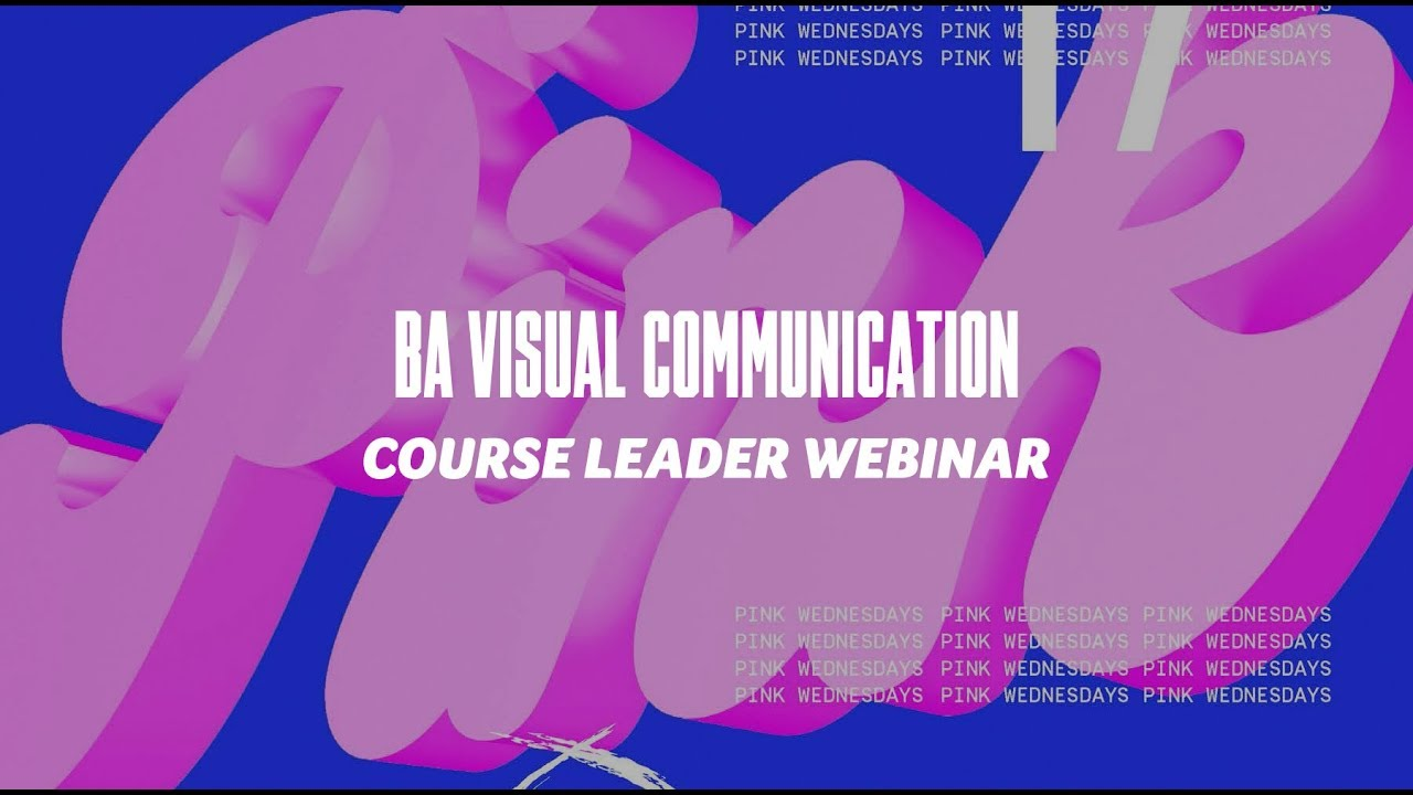 Course Webinar - BA Visual Communication