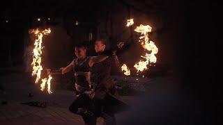 Фаер-шоу на свадьбу | Театр огня и света «БезГраниц»