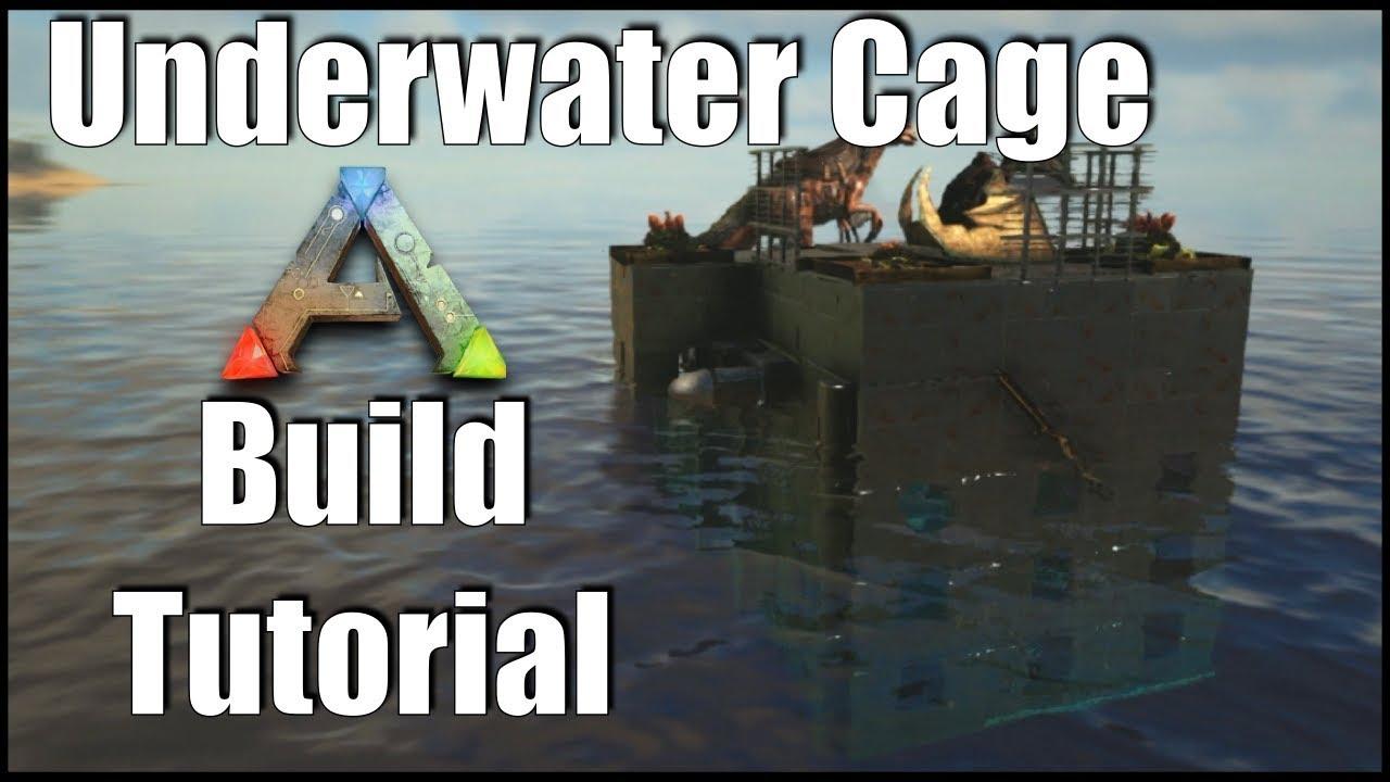 Ark: SE - Underwater Taming Cage! Raft Building Guide | Tips & Tricks!