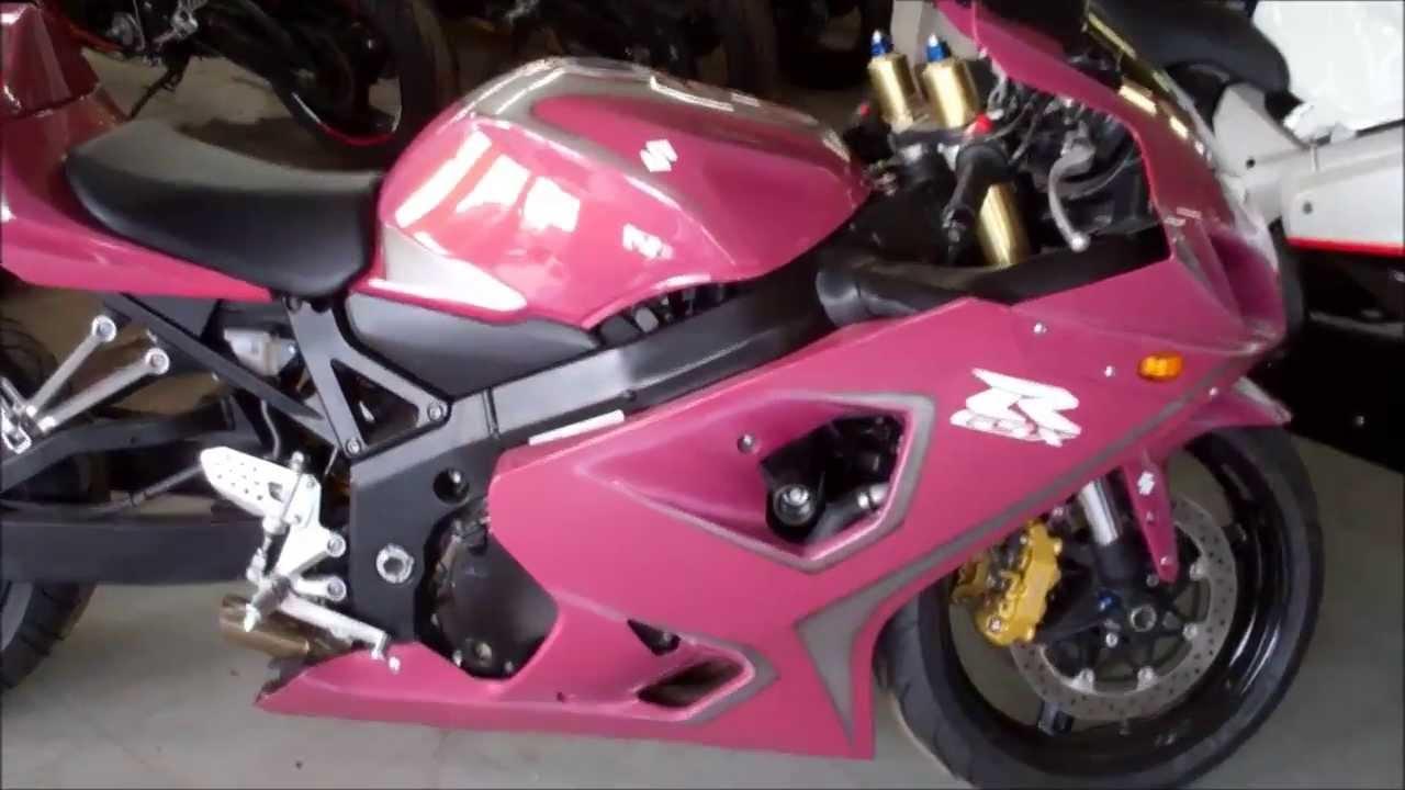 Suzuki Gsxr 600 >> Custom Suzuki GSXR Pink - YouTube
