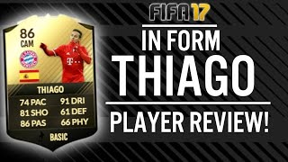 FIFA 17 IN FORM THIAGO ALCANTARA (86) PLAYER REVIEW! | FIFA 17 ULTIMATE TEAM(, 2016-12-28T21:00:23.000Z)