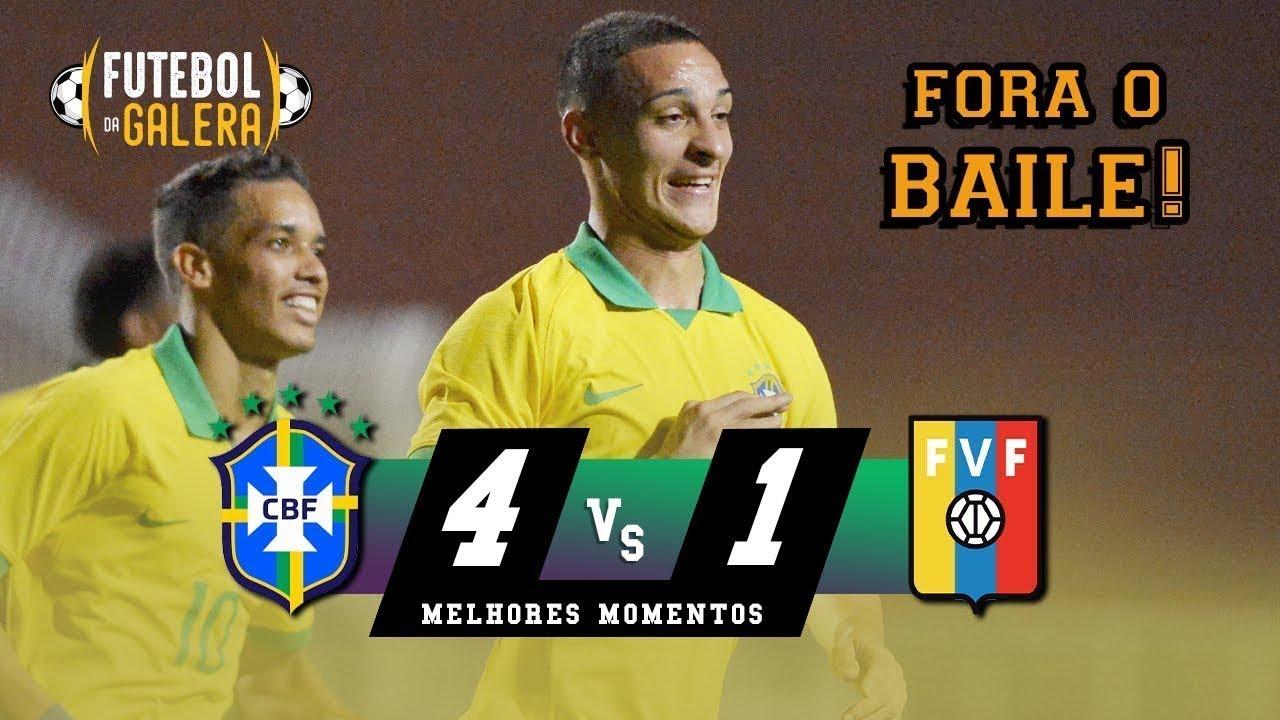 SELEÇÃO OLÍMPICA HUMILHOU   TEVE BRIGA NO FINAL   Brasil 4 x 0 Venezuela   Melhores Momentos HD1
