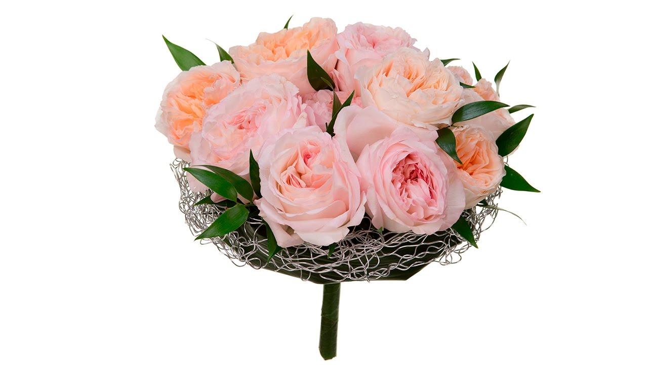 Garden Rose Bridal Bouquet Youtube