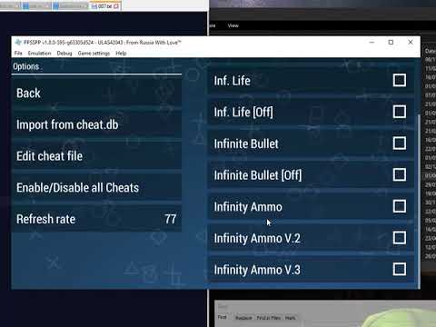 Ppsspp 007 From Russia With Love Cwcheat Bug Youtube