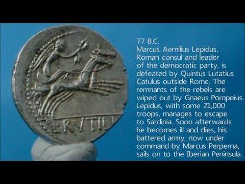 77 B.C. Roman Republic silver denarius of L Rutilius Flaccus