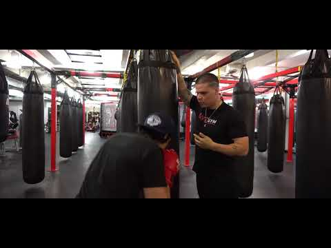 UFC GYM NYC SOHO demonstrating a boxing technique