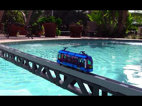 Lego City Tram  going fast