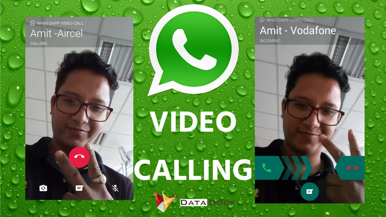Whatsapp Video Calling With Live Demonstration 😃😃😃😃😃 | Data Dock