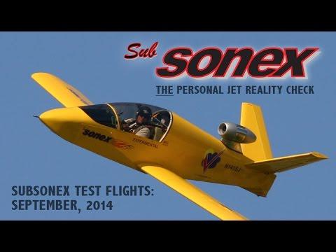 SubSonex September 2014 Test Flights