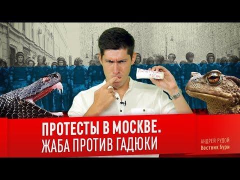ПРОТЕСТЫ В МОСКВЕ: ЖАБА ПРОТИВ ГАДЮКИ
